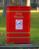 Dog Waste Bin. Dog toilet bin instructing people to clean up after your dog Royalty Free Stock Image