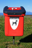 Dog waste bin Royalty Free Stock Images