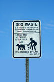 Dog waste sign Royalty Free Stock Image