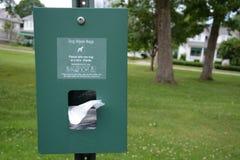 Dog waste station Royalty Free Stock Photo