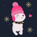Dog wearing fashion cartoon character Royalty Free Stock Photos