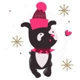 Dog wearing fashion cartoon character Royalty Free Stock Image
