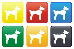 Dog web button Royalty Free Stock Image