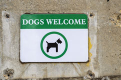 Dog welcome royalty free stock photo