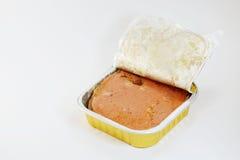 Dog wet food in aluminium tray Stock Photography