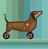 Dog on Wheels Royalty Free Stock Photo