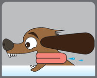 Dog in the Wind stock illustration