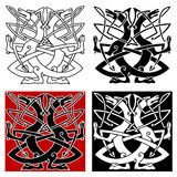 Dog or wolf celtic pattern Royalty Free Stock Photo