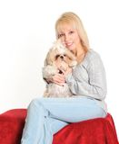 dog woman Στοκ φωτογραφίες με δικαίωμα ελεύθερης χρήσης