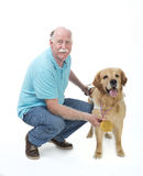 Dog won a golden medal Stock Images