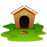 Dog wood house isolated Royalty Free Stock Image