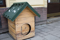 Dog wooden house Royalty Free Stock Photography