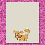 Dog writing paper texture marble background Royalty Free Stock Images