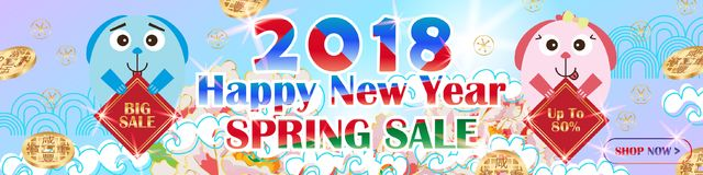 Dog year banner hold sale RGB Royalty Free Stock Image