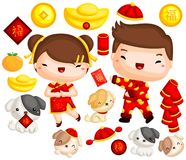 Dog Year Chinese New Year Royalty Free Stock Image