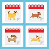 Dog year icon. This is dog year icon design Royalty Free Stock Images