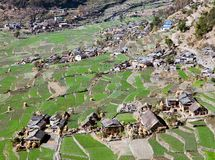 Dogadi village - beautiful village in Western Nepal Stock Images