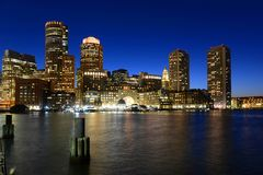 Dogana di Boston alla notte, U.S.A. Immagine Stock Libera da Diritti