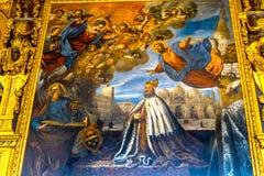Dogeänglar som målar Palazzo Ducale Doge& x27; s-slott Venedig Italien Arkivbild