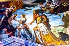 Dogeänglar som målar Palazzo Ducale Doge& x27; s-slott Venedig Italien Fotografering för Bildbyråer