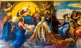 Dogeänglar som målar Palazzo Ducale Doge& x27; s-slott Venedig Italien Royaltyfri Bild