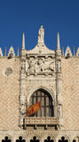 Doge παλάτι και λιοντάρι της Βενετίας Στοκ Εικόνα