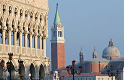 Doge Palace and San Giorgio Maggiore Royalty Free Stock Image