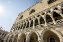 The Doge Palace - Venice Italy. / Detail of the Doge Palace (Palazzo Ducale) in St. Mark Square, Venice Stock Images