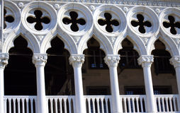 Doge ` s παλάτι arcades Βενετία Ιταλία Στοκ φωτογραφία με δικαίωμα ελεύθερης χρήσης