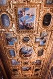 Doge ` s χρώμα Palazzo Ducale παλατιών στο ανώτατο όριο Στοκ εικόνα με δικαίωμα ελεύθερης χρήσης