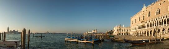 Doge's palace and Basilica di Santa Maria in Venice Royalty Free Stock Photos