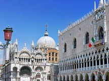 The Doge's Palace ,Cathedral of San Marco, Venice. The Doge's Palace and Cathedral of San Marco, Venice, Italy royalty free stock photography