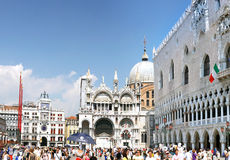 The Doge's Palace ,Cathedral of San Marco, Venice Royalty Free Stock Images