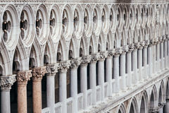 Doge`s Palace columns Royalty Free Stock Image