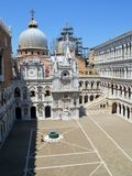 Doge's palace courtyard in Venice Royalty Free Stock Photos