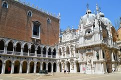 Doge's palace courtyard in Venice Royalty Free Stock Photo