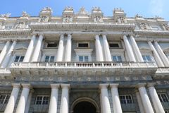 Doge`s Palace, Genoa, Italy. Historical building of the Doge`s Palace Italian: Palazzo Ducale in Genoa, northern Italy. It was constructed in 1778-1783. It royalty free stock photos