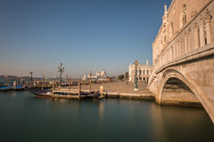 Doge's Palace and Gondola in Vencie Royalty Free Stock Photo