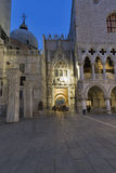 Doge`s Palace at night. St Mark Square in Venice, Italy. Stock Images