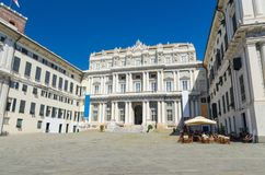 Doge`s Palace Palazzo Ducale classic style building on Piazza Giacomo Matteotti square stock photography