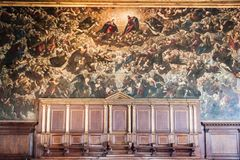 Doge`s Palace Palazzo Ducale Paint on the wall Royalty Free Stock Photo
