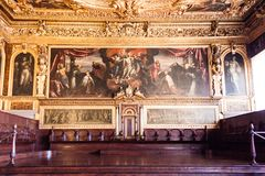 Doge`s Palace Palazzo Ducale Paint on the wall Royalty Free Stock Images