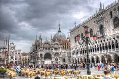 Doge's Palace and Piazza San Marco, Venice, Italy (HDR) Stock Images