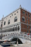 Doge's Palace, and Riva degli Schiavoni Promenade Stock Images