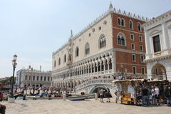 Doge's Palace, and Riva degli Schiavoni Promenade Stock Photos
