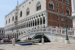 Doge's Palace, and Riva degli Schiavoni Promenade Royalty Free Stock Images