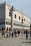 Doge's Palace at the Riva degli Schiavoni in Venice - Italy. Royalty Free Stock Images