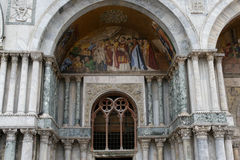 Doge's Palace and St. Mark's Basilica. Exterior frescoes of the Cathedral of St. Mark Royalty Free Stock Photos