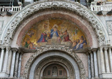 Doge's Palace and St. Mark's Basilica. Exterior frescoes of the Cathedral of St. Mark Stock Photography