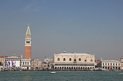 Doge's Palace, St Mark's Campanile, Venice, Italy Royalty Free Stock Photography